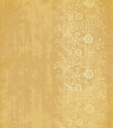 decorative floral paper on an old Stock Photo - Budget Royalty-Free & Subscription, Code: 400-06199794