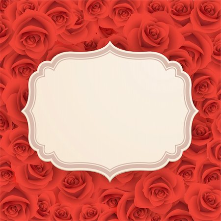 Greeting card with roses and place for text. Stock Photo - Budget Royalty-Free & Subscription, Code: 400-06199824