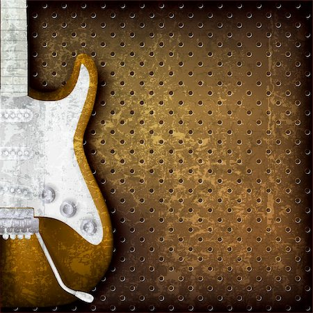 abstract grunge brown background with electric guitar Stock Photo - Budget Royalty-Free & Subscription, Code: 400-06206048