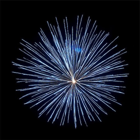 fireworks on black background Stock Photo - Budget Royalty-Free & Subscription, Code: 400-06206452