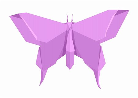 illustration of an origami butterfly Stock Photo - Budget Royalty-Free & Subscription, Code: 400-06208426