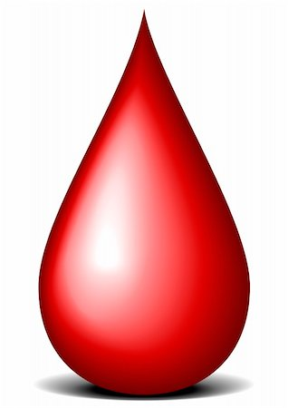illustration of a red drop of blood Stock Photo - Budget Royalty-Free & Subscription, Code: 400-06200032