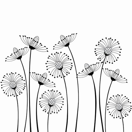 meadow flowers on white background Stock Photo - Budget Royalty-Free & Subscription, Code: 400-06200061