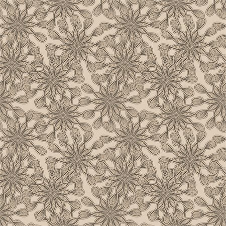 vector seamless floral  monochrome pattern with bizarre flowers Stock Photo - Budget Royalty-Free & Subscription, Code: 400-06200378