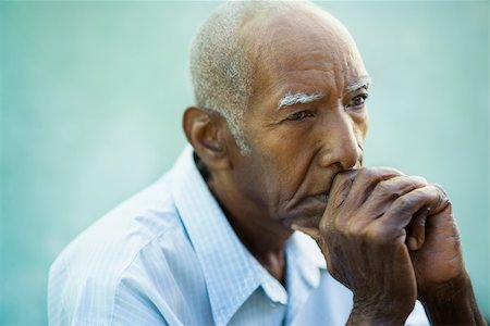 diego_cervo (artist) - Seniors portrait of contemplative old african american man looking away. Copy space Stock Photo - Budget Royalty-Free & Subscription, Code: 400-06200435