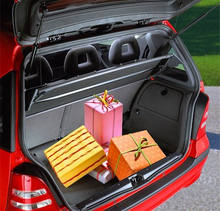 a fancy boxes in the passenger compartment of car Stock Photo - Budget Royalty-Free & Subscription, Code: 400-06202039