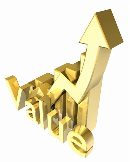 Statistics graphic in gold - 3d made Stock Photo - Royalty-Free, Artist: fambros, Image code: 400-06203465