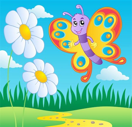 Butterfly theme image 2 - vector illustration. Stock Photo - Budget Royalty-Free & Subscription, Code: 400-06326505