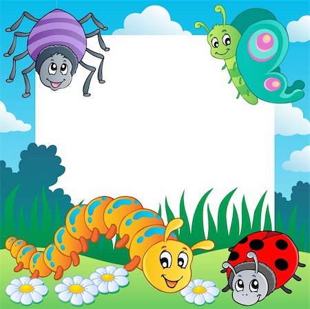 Frame with bugs theme 1 - vector illustration. Stock Photo - Budget Royalty-Free & Subscription, Code: 400-06326520