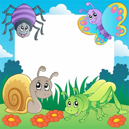 Frame with bugs theme 2 - vector illustration. Stock Photo - Budget Royalty-Free & Subscription, Code: 400-06326521
