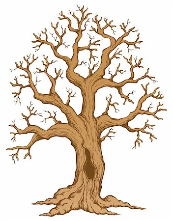 Tree theme drawing 2 - vector illustration. Stock Photo - Budget Royalty-Free & Subscription, Code: 400-06326540