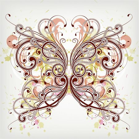 illustration drawing of abstract butterfly Stock Photo - Budget Royalty-Free & Subscription, Code: 400-06326562