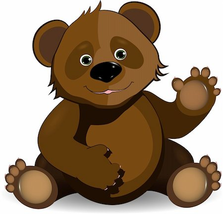 simsearch:400-04598294,k - illustration merry brown teddy bear on a white background Stock Photo - Budget Royalty-Free & Subscription, Code: 400-06326879