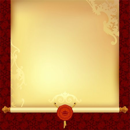 background with ancient paper, this illustration may be useful as designer work Stock Photo - Budget Royalty-Free & Subscription, Code: 400-06327153