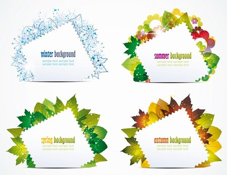 vector illustration of a seasons of the year Stock Photo - Budget Royalty-Free & Subscription, Code: 400-06327292