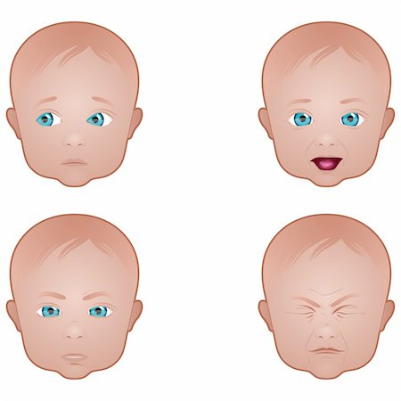 Collection of baby facial expressions Stock Photo - Budget Royalty-Free & Subscription, Code: 400-06328064