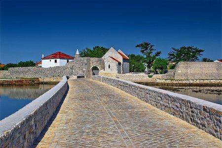 Town of Nin entrance bridge, Croatia, Dalmatia Stock Photo - Budget Royalty-Free & Subscription, Code: 400-06328951