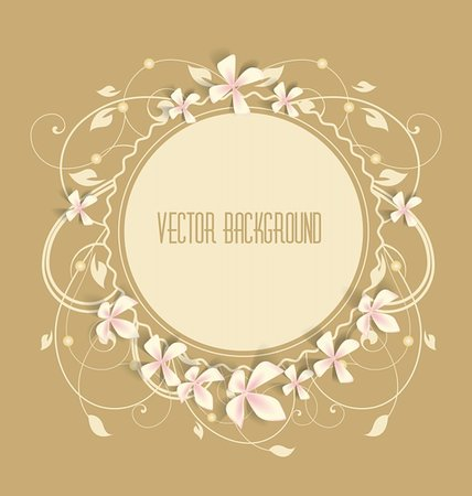 Vintage floral background. Beautiful frame with flowers. Stock Photo - Budget Royalty-Free & Subscription, Code: 400-06329749
