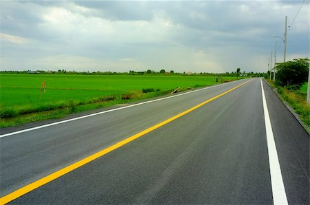 road landscape - country road in Thailand Stock Photo - Budget Royalty-Free & Subscription, Code: 400-06330226