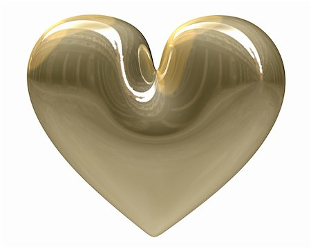 golden heart (3D) Stock Photo - Budget Royalty-Free & Subscription, Code: 400-06331409