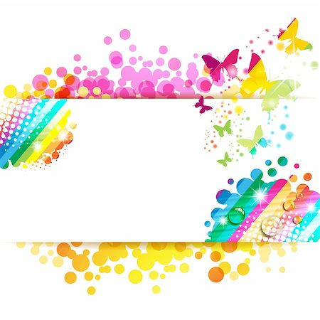 Colorful background with butterfly Stock Photo - Budget Royalty-Free & Subscription, Code: 400-06355875