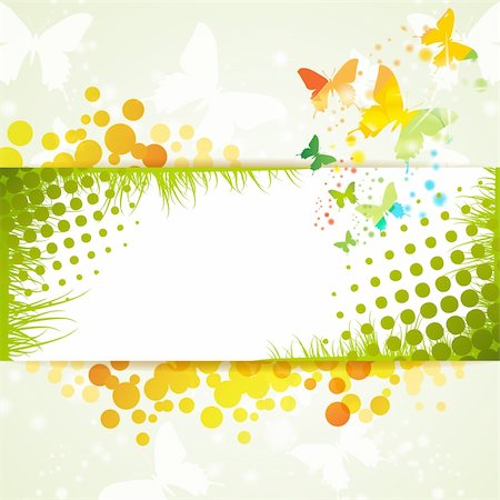 Colorful background with butterfly Stock Photo - Budget Royalty-Free & Subscription, Code: 400-06355876