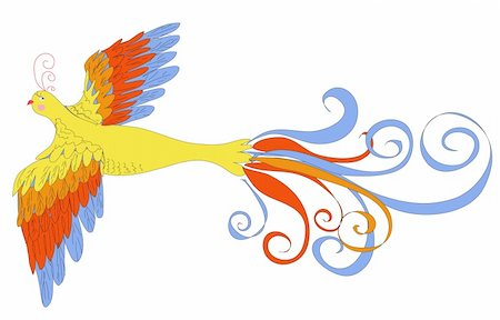 frbird - vector illustration of firebird made with graphic table Stock Photo - Budget Royalty-Free & Subscription, Code: 400-06356561