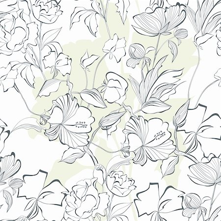 pattern paeonia - Floral seamless pattern with a lot of flowers Stock Photo - Budget Royalty-Free & Subscription, Code: 400-06357501