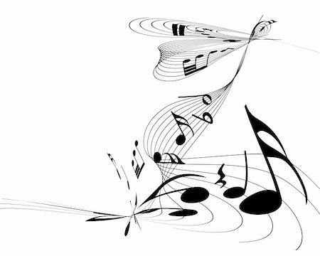 Vector musical notes staff background for design use Stock Photo - Budget Royalty-Free & Subscription, Code: 400-06357627