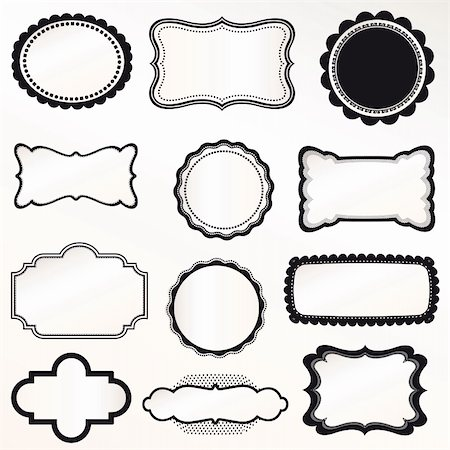 Vector Frame Set ornamental vintage decoration Stock Photo - Budget Royalty-Free & Subscription, Code: 400-06358891