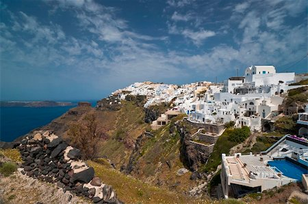 Cyclades architecture in Santorini island Stock Photo - Budget Royalty-Free & Subscription, Code: 400-06359213