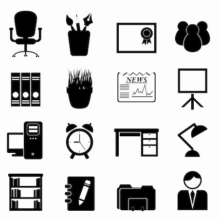 soleilc (artist) - Office furniture and tools icon set Stock Photo - Budget Royalty-Free & Subscription, Code: 400-06365205