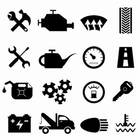 soleilc (artist) - Car maintenance and repair icon set Stock Photo - Budget Royalty-Free & Subscription, Code: 400-06365203