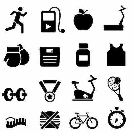 soleilc (artist) - Fitness, health and diet icon set Stock Photo - Budget Royalty-Free & Subscription, Code: 400-06366003