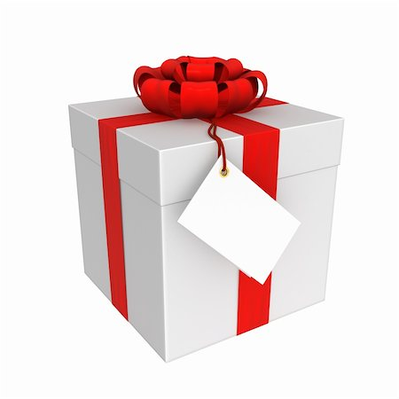The gift box isolated on white background Stock Photo - Budget Royalty-Free & Subscription, Code: 400-06366567