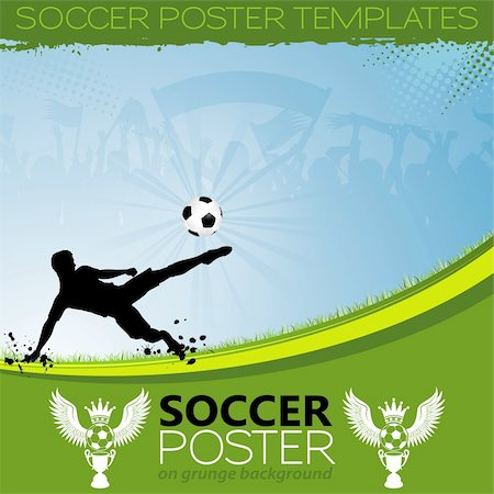Soccer Poster with Players, Cup and Fans, element for design, vector illustration Stock Photo - Budget Royalty-Free & Subscription, Code: 400-06360856