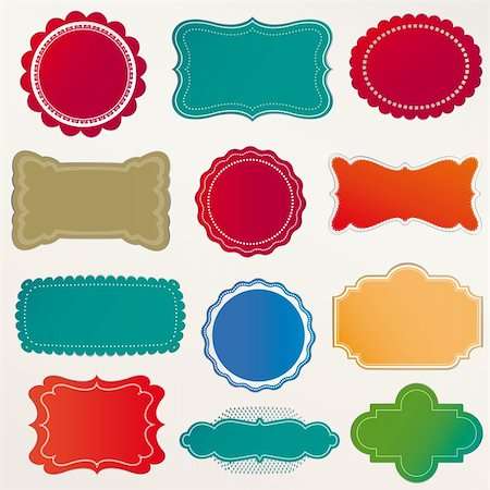 Vector Frame Set ornamental vintage decoration Stock Photo - Budget Royalty-Free & Subscription, Code: 400-06384447