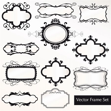 Vector Frame Set ornamental vintage decoration Stock Photo - Budget Royalty-Free & Subscription, Code: 400-06384518
