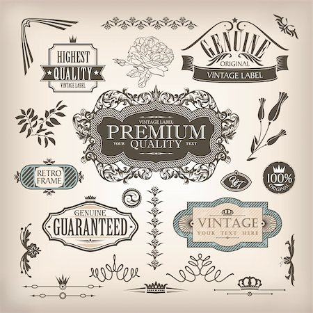 vector set of design elements and page decoration Stock Photo - Budget Royalty-Free & Subscription, Code: 400-06384613