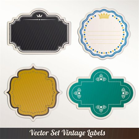 Vector Frame Set ornamental vintage decoration Stock Photo - Budget Royalty-Free & Subscription, Code: 400-06384884