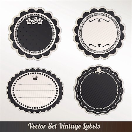 Vector Frame Set ornamental vintage decoration Stock Photo - Budget Royalty-Free & Subscription, Code: 400-06384886