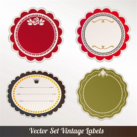 Vector Frame Set ornamental vintage decoration Stock Photo - Budget Royalty-Free & Subscription, Code: 400-06384883