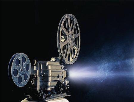 old cinema projector photo Stock Photo - Budget Royalty-Free & Subscription, Code: 400-06386856