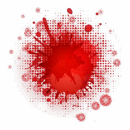 Blood Blobs, Isolated On White Background, Vector Illustration Stock Photo - Budget Royalty-Free & Subscription, Code: 400-06389066