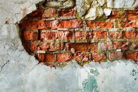 pzromashka (artist) - The destruction of a brick wall. background Stock Photo - Budget Royalty-Free & Subscription, Code: 400-06389080