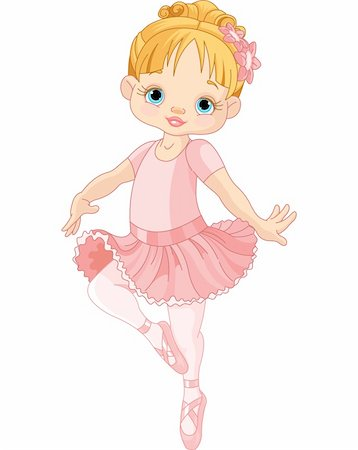 Illustration of Dancing Little Ballerina Stock Photo - Budget Royalty-Free & Subscription, Code: 400-06389293