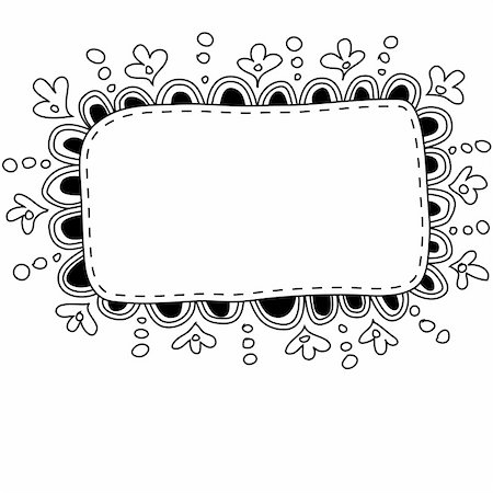 Hand made doodle frame. Also available as a Vector in Adobe illustrator EPS format, compressed in a zip file. The vector version be scaled to any size without loss of quality. Stock Photo - Budget Royalty-Free & Subscription, Code: 400-06389717