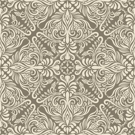 filigree - vector seamless vintage pattern, fully editable eps 8 file with clipping mask and pattern in swatch menu Stock Photo - Budget Royalty-Free & Subscription, Code: 400-06389983