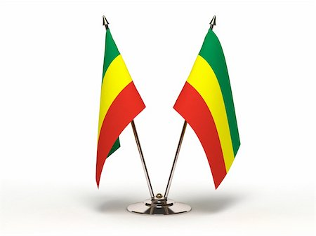 Miniature Flag of Ethiopia (Isolated with clipping path) Stock Photo - Budget Royalty-Free & Subscription, Code: 400-06395634