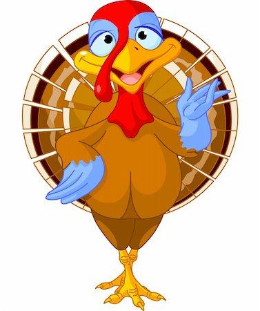 Illustration of a cartoon turkey Stock Photo - Budget Royalty-Free & Subscription, Code: 400-06396315